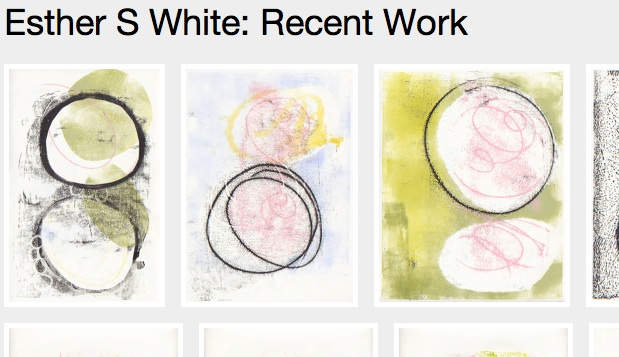 Screenshot of Esther S White: Recent Work